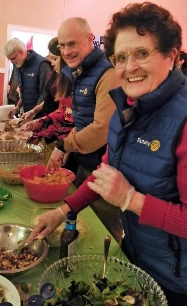 Rotarians Serving Food -- Shannie Duff FG