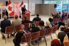 Visit from Minister Hussen July 11/19